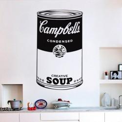Vinil pop art Campbell's soup