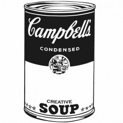 Vinil pop art Campbell s soup