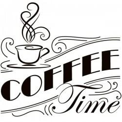 Vinil frases de cozinha coffee time