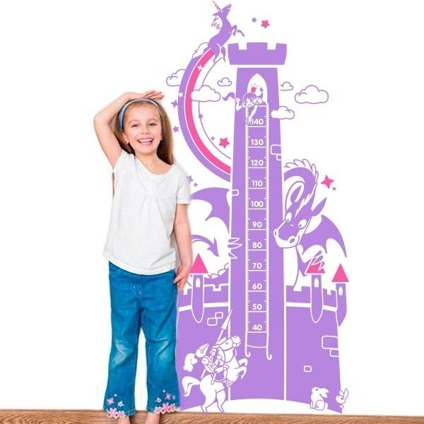 Vinil medidor princesa no castelo