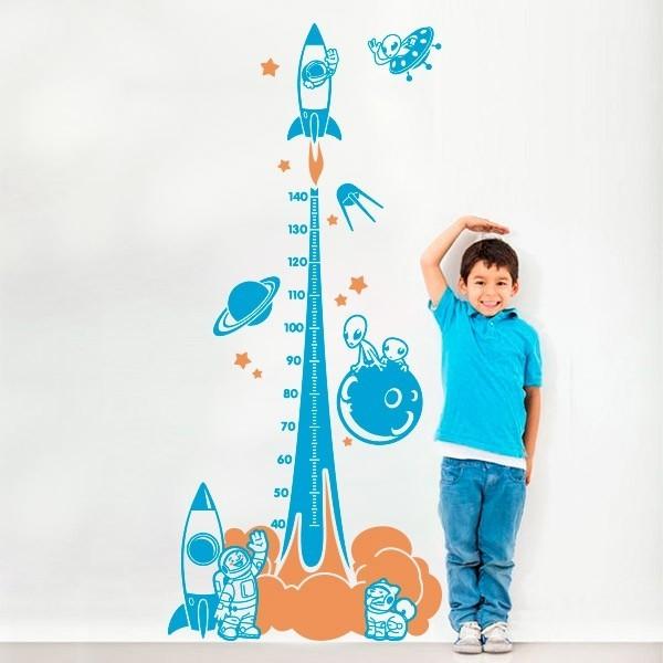 Vinil infantil de medidor nave espacial
