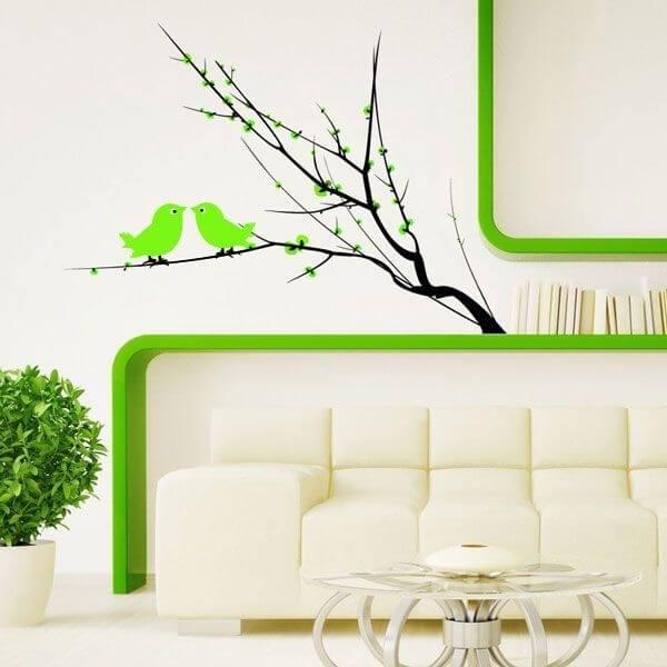 Vinil decorativo árvore e pássaros