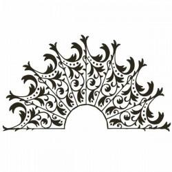 Adesivo de cabeceira ornamental