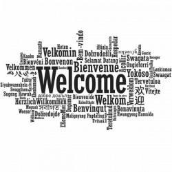 Vinil de frases welcome