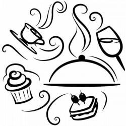 Vinil para cozinha comidas e bebidas