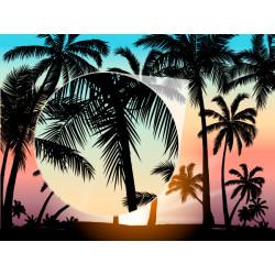 Mural ilustração de palmeiras