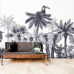 Foto mural animais da savana