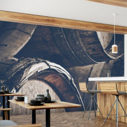 Mural de parede barril de vinho