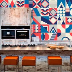 Autocolantes de azulejos coloridos