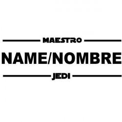 Adesivo mestre jedi com nome