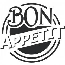 Vinil círculo bon appétit