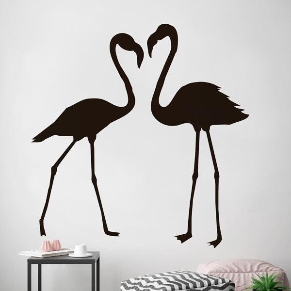 Adesivo reencontro dos flamingos