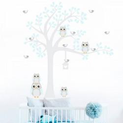 Autocolante infantil corujas