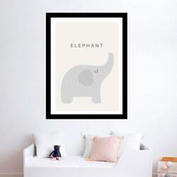Quadro em vinil de elefante