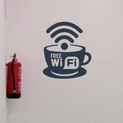 Vinil para empresas free wifi
