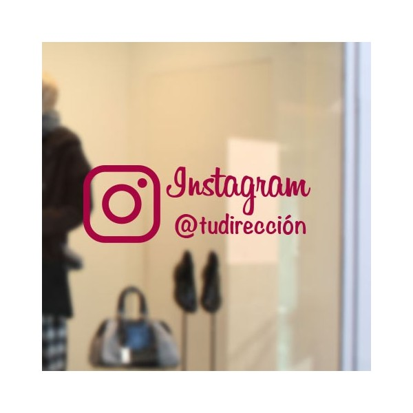 Autocolante para empresas Instagram