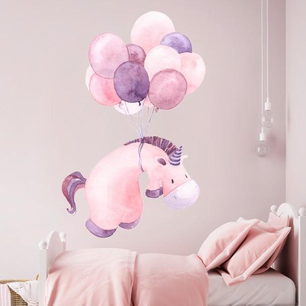Vinil infantil unicórnio e balões