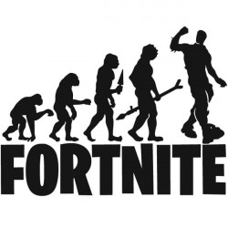 Adesivo evolução fortnite