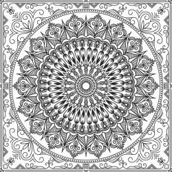 Adesivo mandala preto e branco