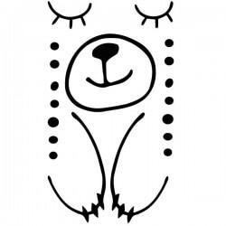 Vinil de porta infantil Urso a dormir