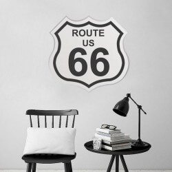 Vinil decorativo Route U.S. 66