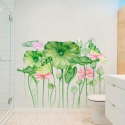 Vinil de parede flores exóticas