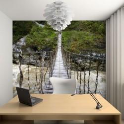 Vinil ponte de madeira