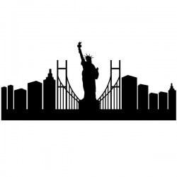 Vinil skyline de Nova York