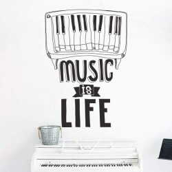 Vinil frase music is life