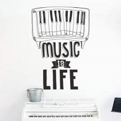 Vinil frase music is life
