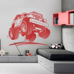 Vinil decorativo jeep