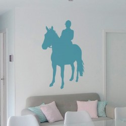 Vinil homem a cavalo