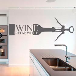 Vinil garrafa de vinho