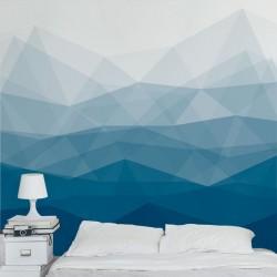 Mural de parede padrão azul