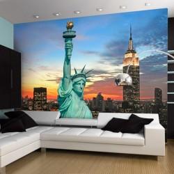 Mural Estátua da Liberdade e Nova Iorque