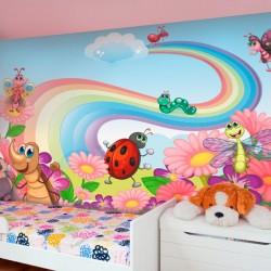 Mural de parede animais no...