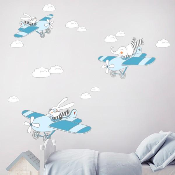 Autocolante avião infantil