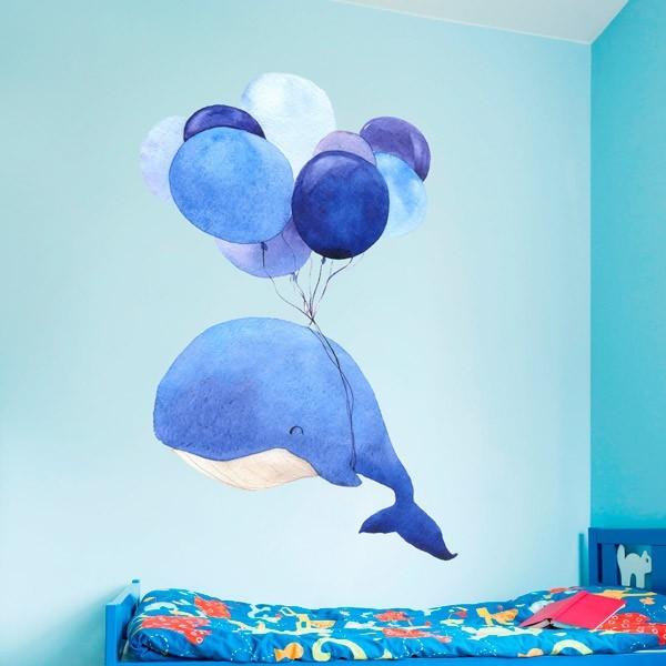 Vinil infantil de baleia
