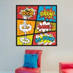 Autocolante pop art boom-bang