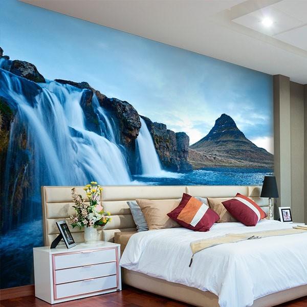 Papel de parede cascata nas montanhas