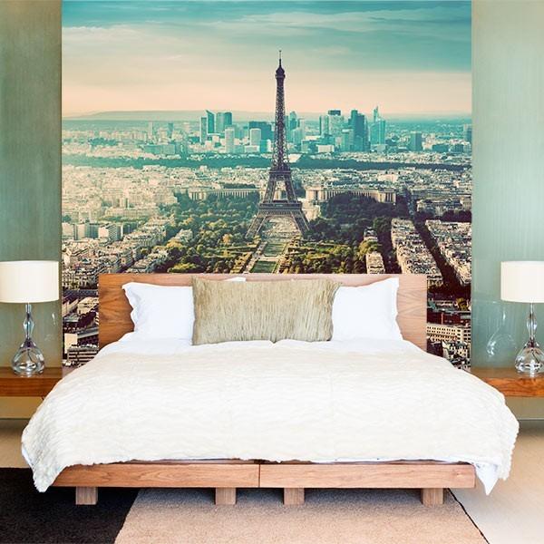 Mural de parede panorâmica de Paris