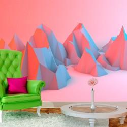 Papel pintado colinas 3D