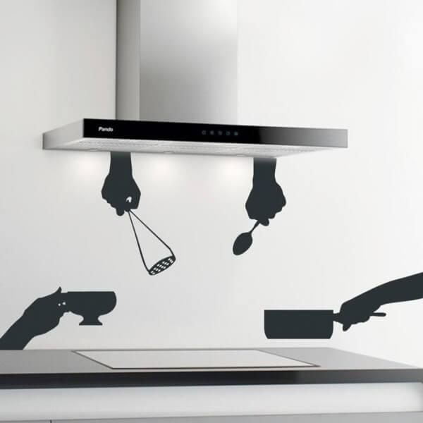 Autocolante utensílios de cozinha