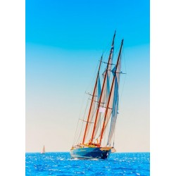 Foto mural barco a vela
