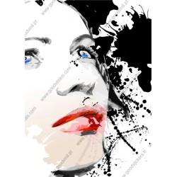 Mural ilustração de uma mulher