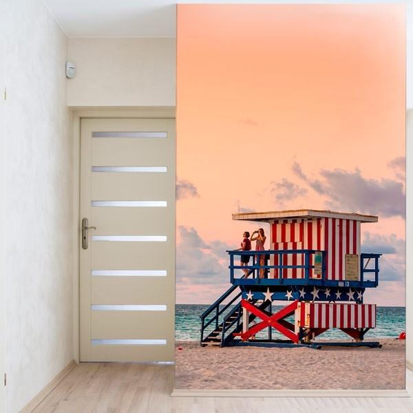 Foto mural praia USA
