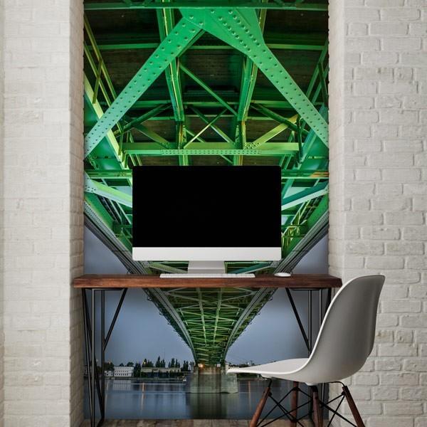 Papel de parede ponte verde