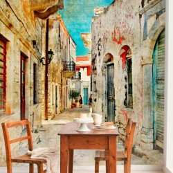 Foto mural ruas da Grécia