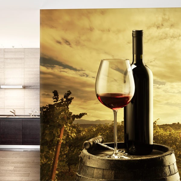 Foto mural copo de vinho