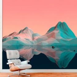 Mural de parede montanha 3D